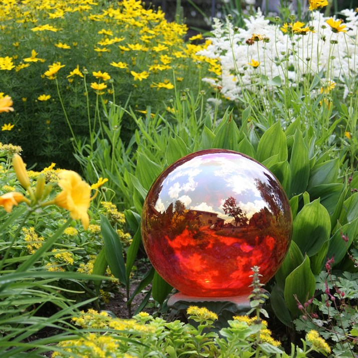 Gazing ball in the garden