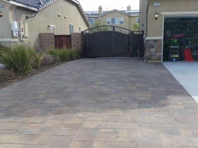 RV access driveway extension made of pavers