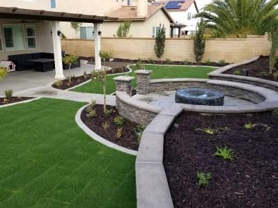 Residential backyard
