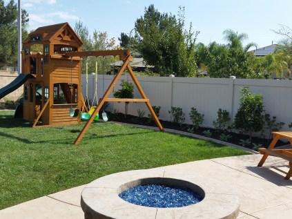 Family-friendly rear yard