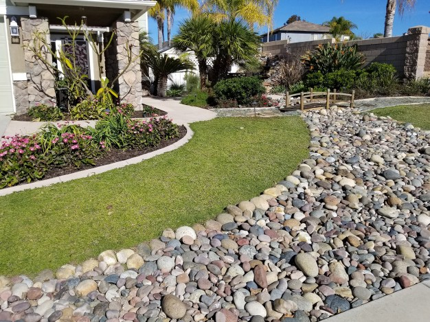 Grass free front yard