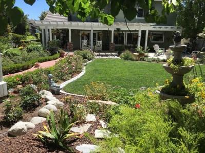 Cottage gardens with pathways