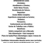OPERADOR DE CAIXA – FORTALEZA/CE