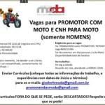 PROMOTOR COM MOTO – RIO DE JANEIRO/RJ