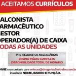 BALCONISTA, GESTOR, FARMACÊUTICO E OPERADOR (A) DE CAIXA – RIO DE JANEIRO/RJ