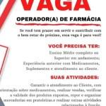 OPERADOR (A) DE FARMÁCIA – FORTALEZA/CE
