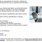 ANALISTA SÊNIOR DE DP – RIO DE JANEIRO/RJ