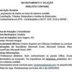 ANALISTA CONTÁBIL (ENVIAR CV ATE 20/05/2020) – RECIFE/PE