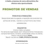 PROMOTOR DE VENDAS (ENVIAR CV ATÉ 20/06/20) – RECIFE/E