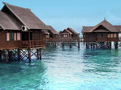 Floating Cottage at Beautiful Bidadari Island Jakarta Indonesia
