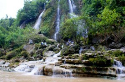 Beautiful Sri Gethuk Waterfall Indonesia