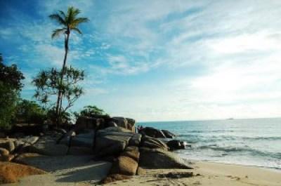 Beautiful Pasir Padi Beach Indonesia