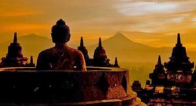 Sunset di Candi Borobudur