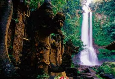 Beautiful Gitgit Waterfall Bali - Indonesia 3