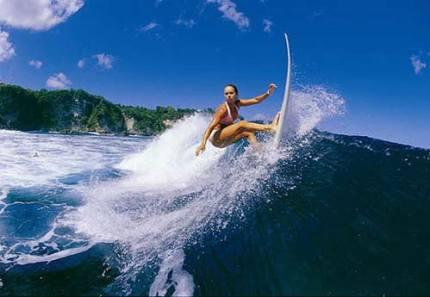 Surfing at g-land beach