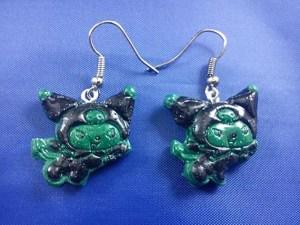 Zombie bat cat earrings