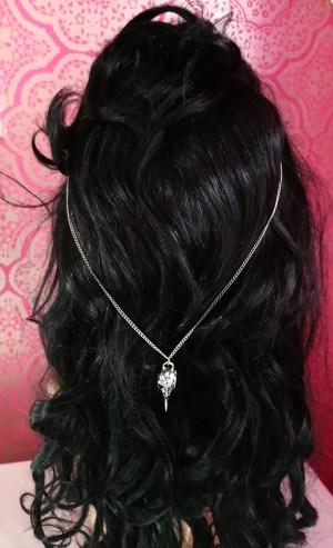 Bird skull boho style chain hair clip