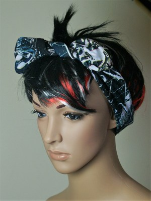 Graffiti paint splashed effect hair band