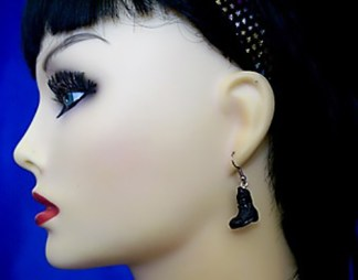 Black 3D Dr Marten Boot earrings