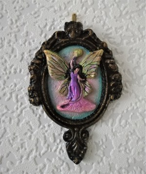 Gothic fairy 3D cameo wall plaque