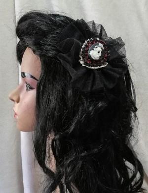 Gothic Lolita lady cameo hair clip