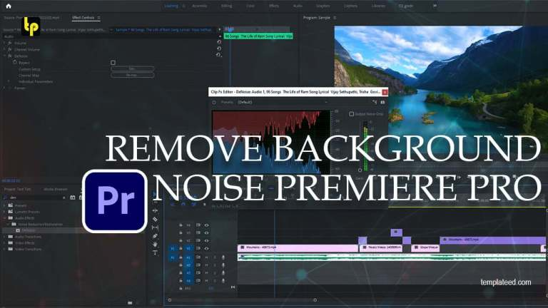 How to remove background noise premiere pro