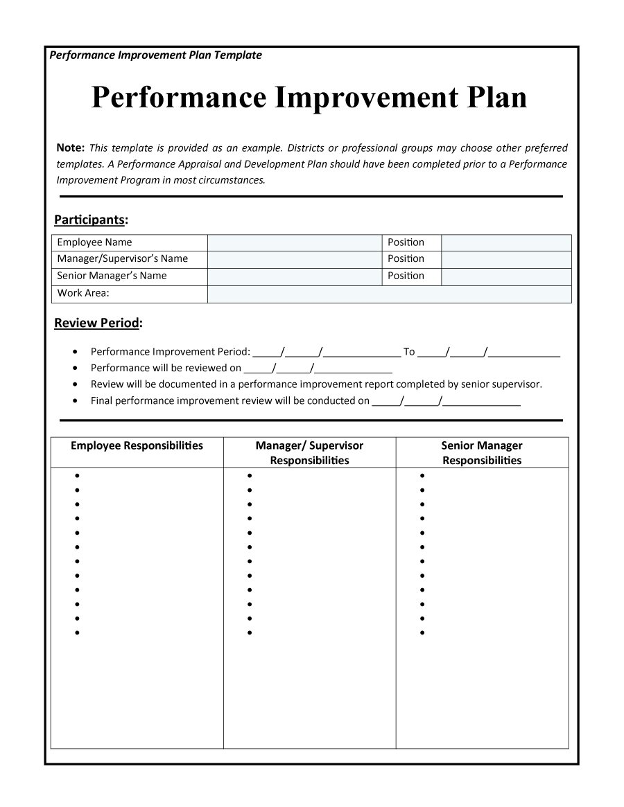 All the blocks in integrity form a beautiful and convenient report with interactive data visualization to perform a comparative analysis of the implementation of the sales plan immediately for 4 groups of products: 50 Free Performance Improvement Plan Templates Templatehub