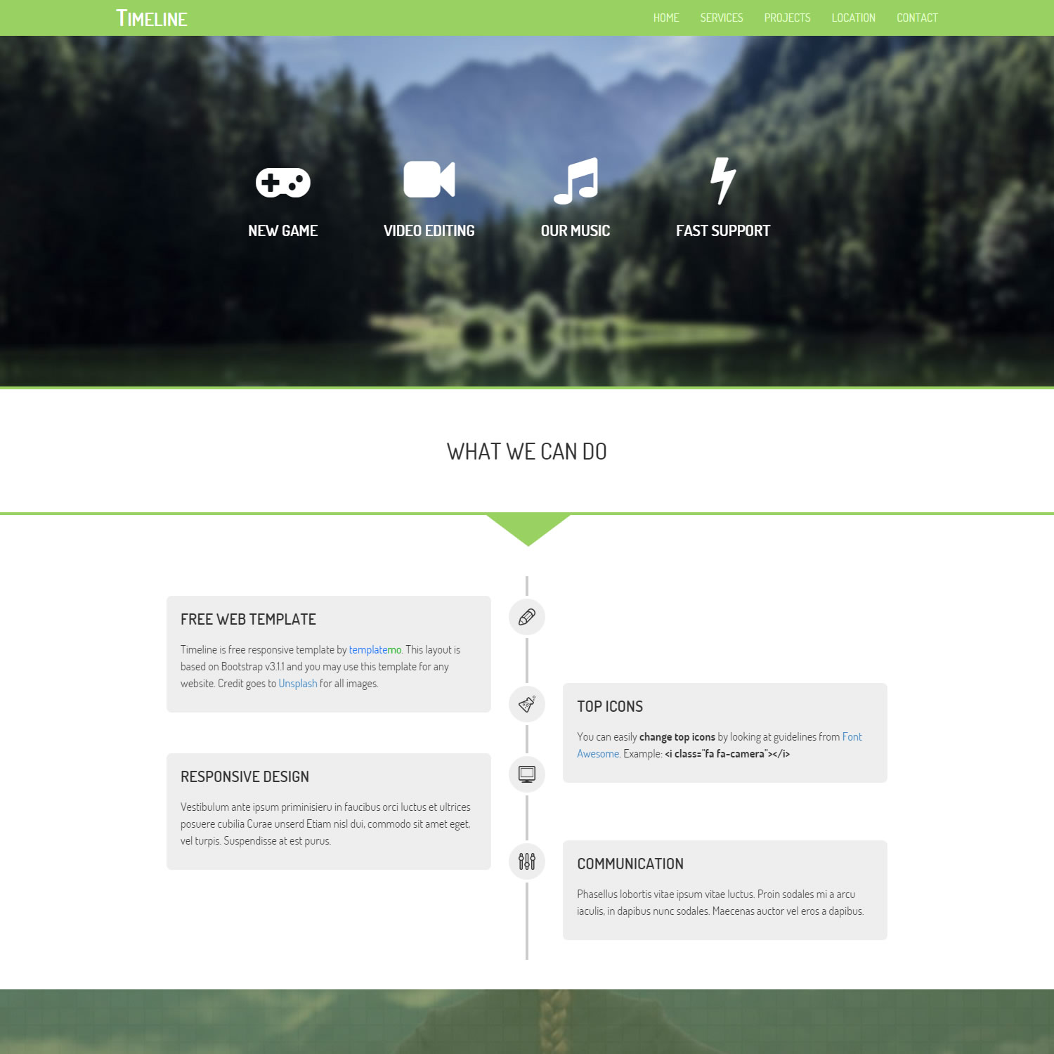 timeline website templates