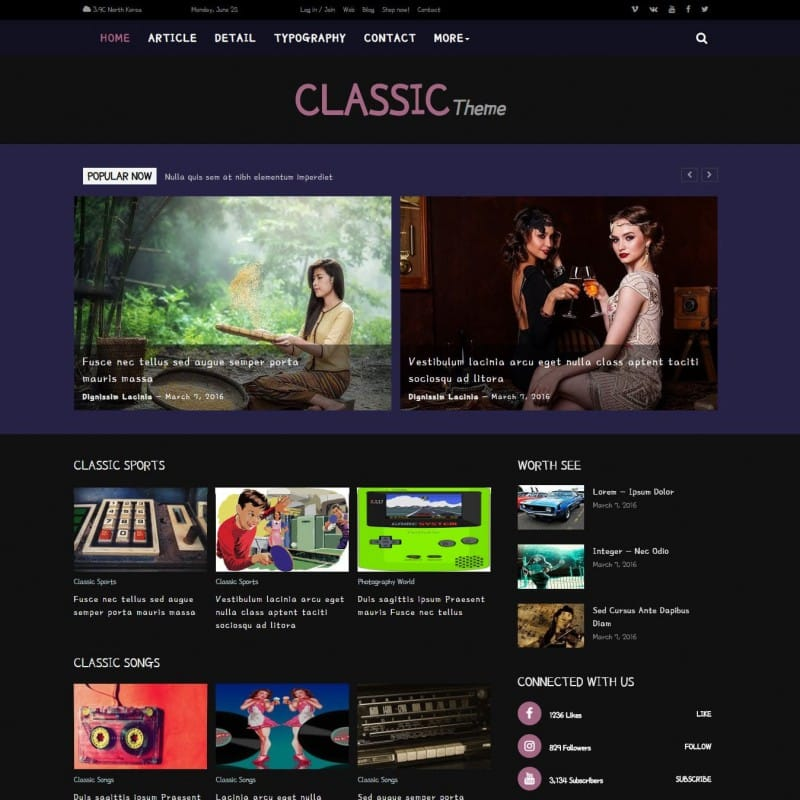 There are thousands of web and blog template variations that create websites, services websites, and website blocks with unlimited downloads. Responsive Blog Template Free Templateonweb