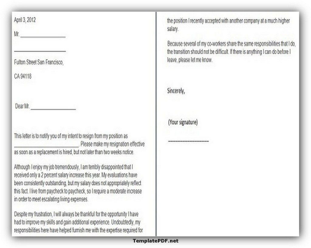 Two weeks notice Template 29