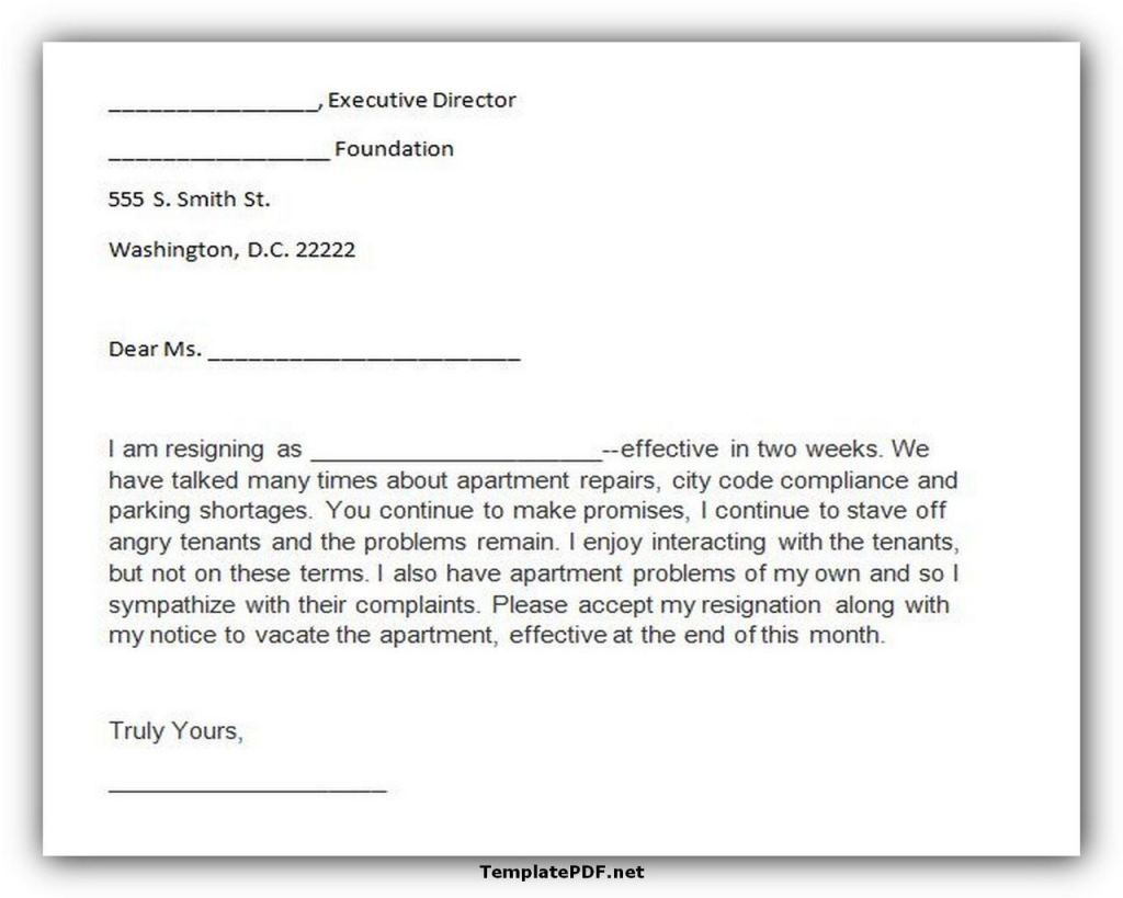 Two weeks notice Template 30