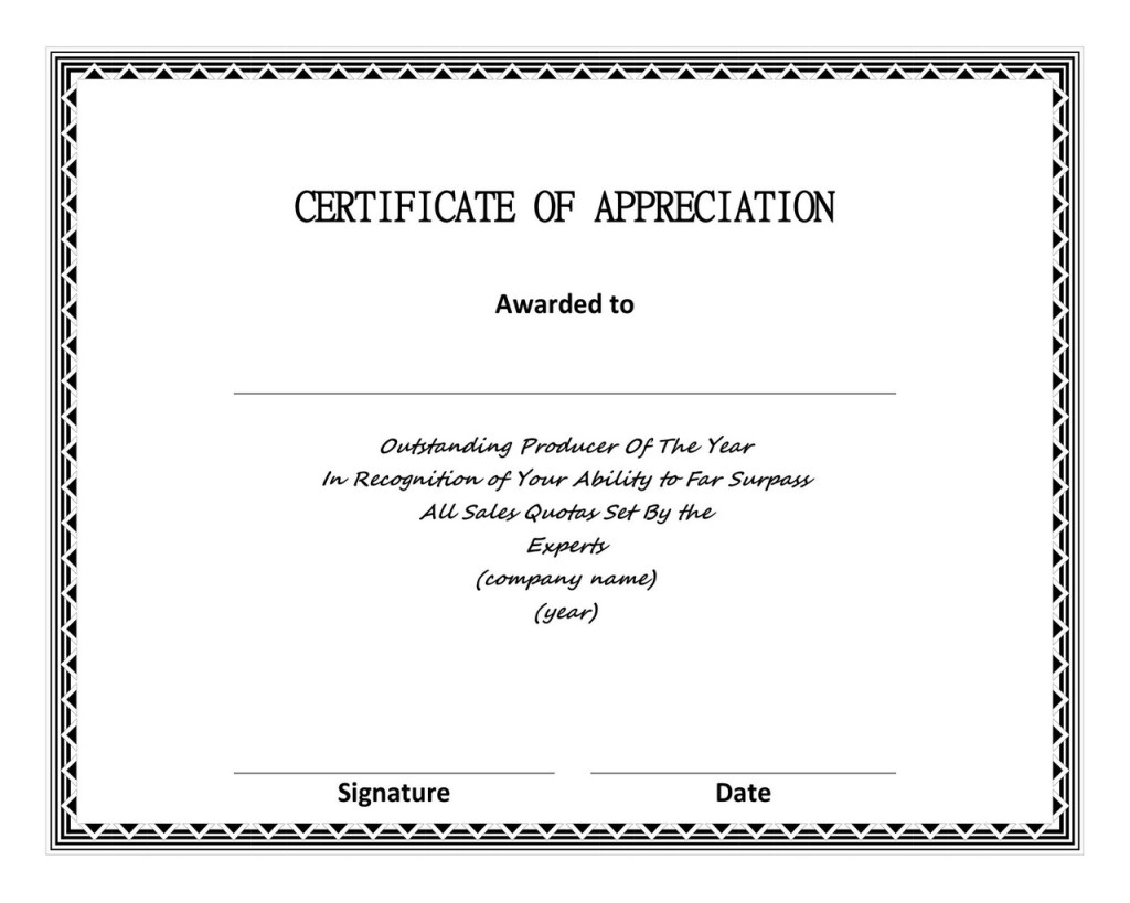 Certificate of Appreciation 06