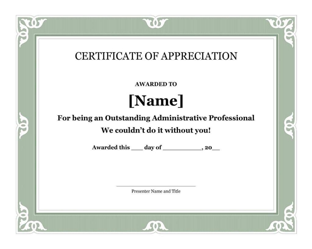 Certificate of Appreciation 18
