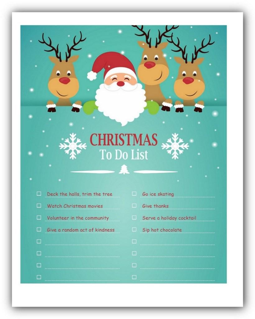 Christmas To Do List Template