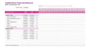 Construction Schedule PDF Images