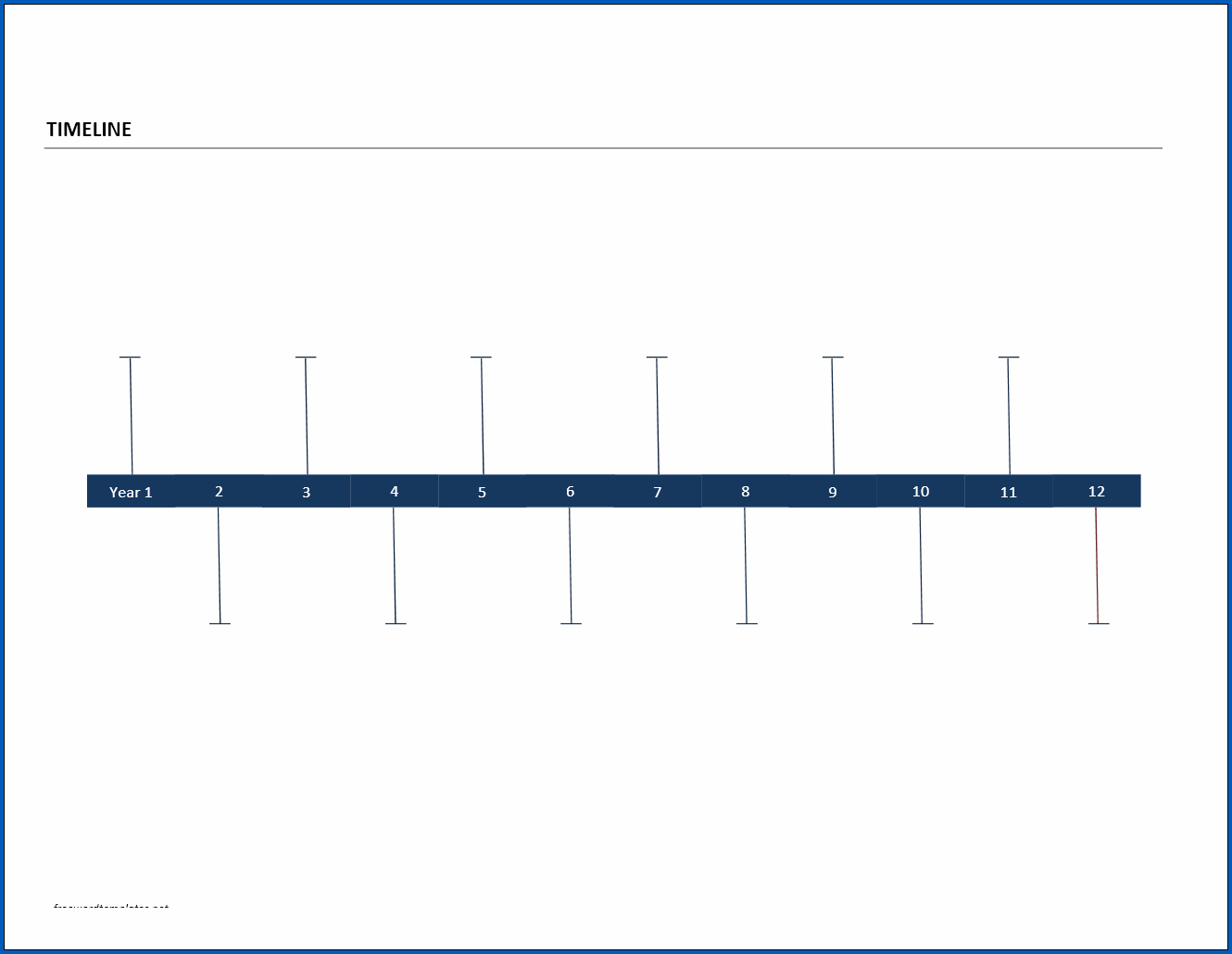 Free Printable Year Timeline Template