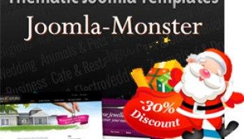 template 58957 30 joomla monster coupon code for christmas