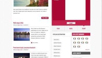 BT Education Joomla Template for Social Networks, Community