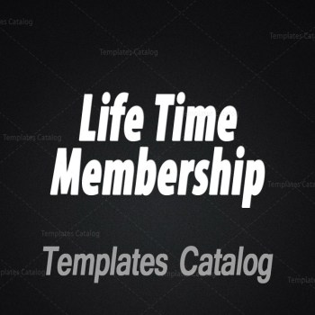 Templates Catalog Life Time Membership