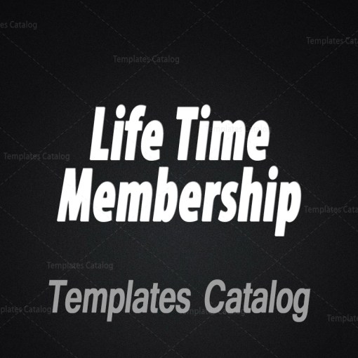 Templates Catalog Life Time Membership