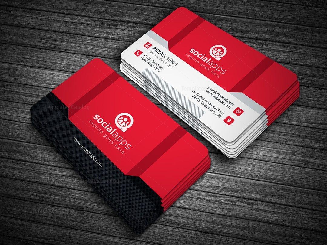3d effect business card template 000143