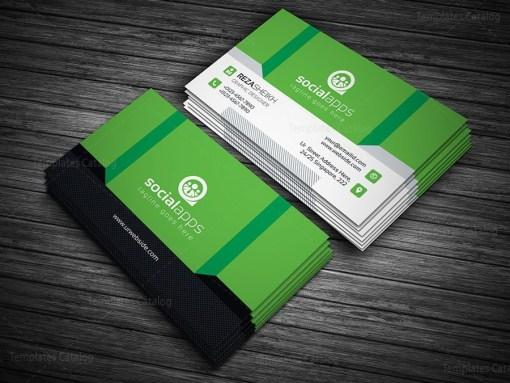 3D Effect Business Card Template