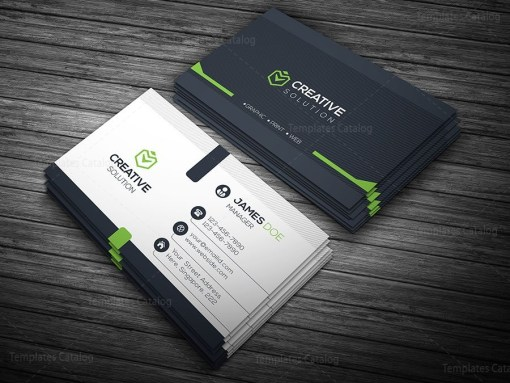 Elegant Business Card Green