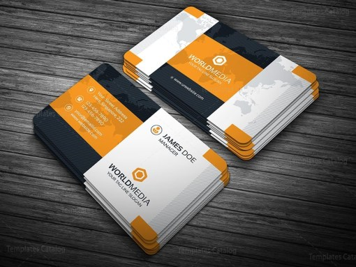 Modern Pro Business Card Template Orange