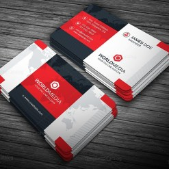 Modern Pro Business Card Template Red