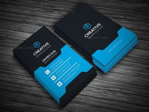Stylish Vertical Business Card