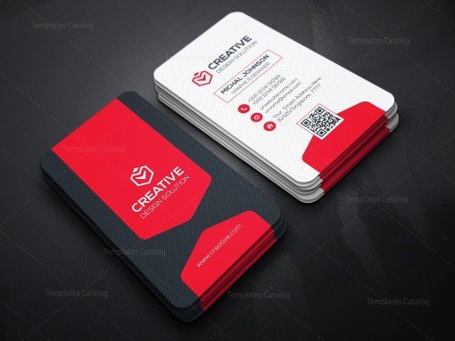 Vertical Business Card Design Template