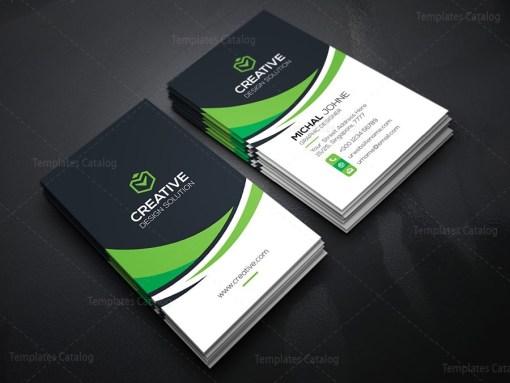 Vertical Technology Business Card Template