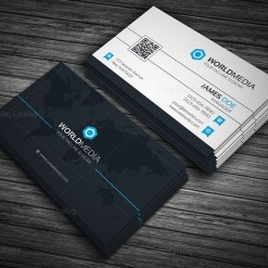 World Media Business Card Template