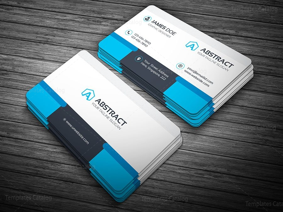 Professional Business Card Template 000100 Template Catalog